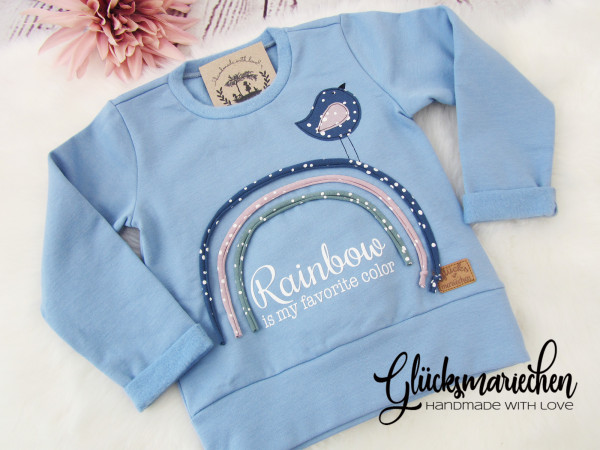 Pullover RAINBOW dusty blue
