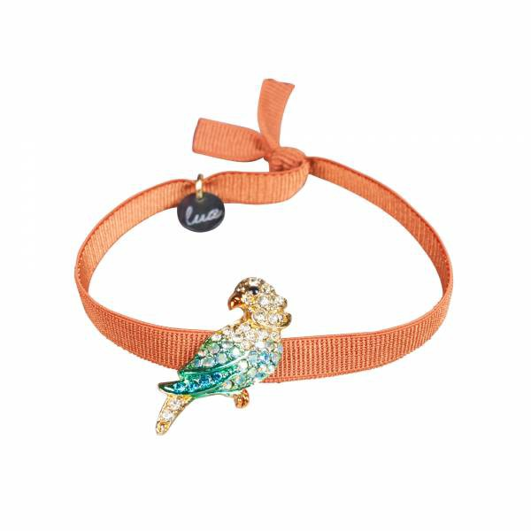 Armband Papagei orange