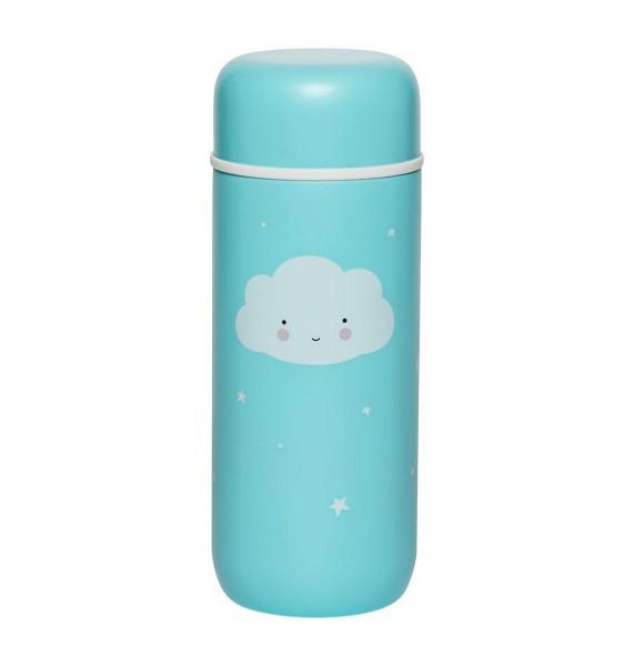 Trinkflasche Edelstahl Wolke