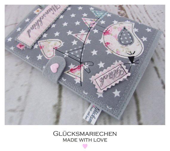 """GLÜCK & WUNSCHKIND"""" Mutterpasshülle - grau"""