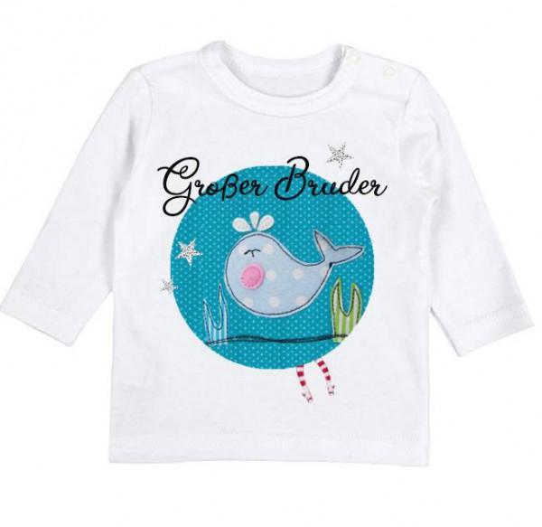 "GLÜCKSMARIECHEN ""Grosser Bruder Shirt' türkis"