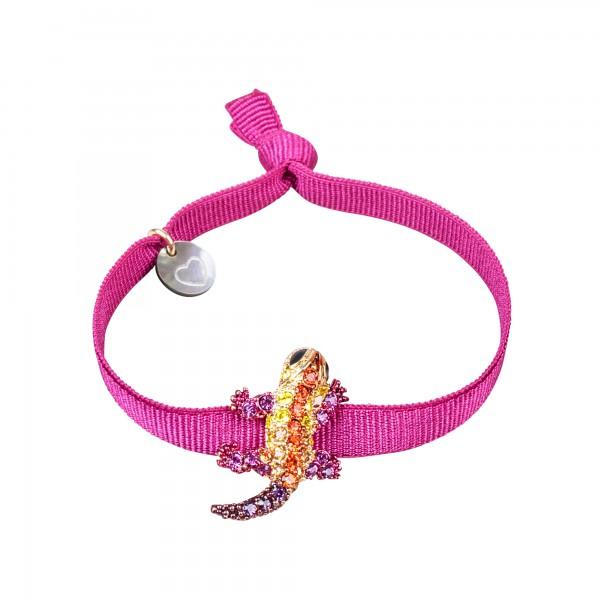 Armband Eidechse pink