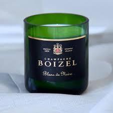"""Champagner Duftkerze """"Boizel green glas"""""""
