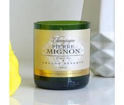 "Champagner Duftkerze ""Pierre Mignon green glas"""
