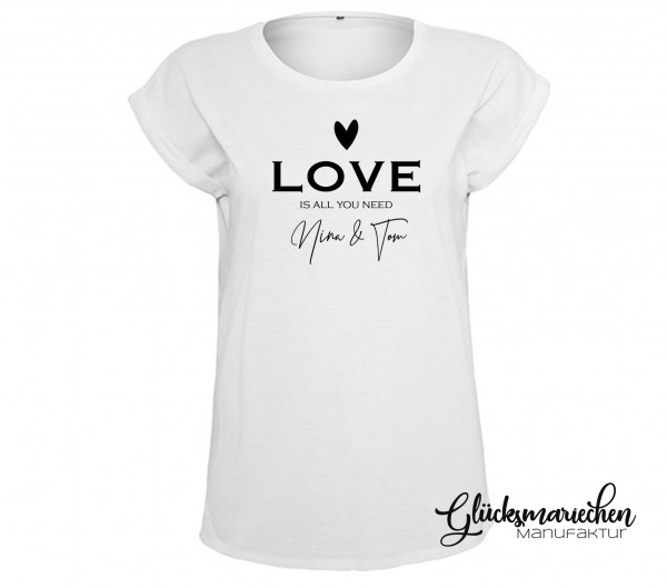 Statement Shirt LOVE IS ALL WE NEED