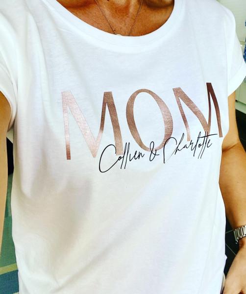 Statement Shirt MOM metallic rosé