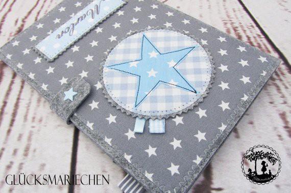 U-Heft Hülle STAR - 2 in 1 - grau/blau